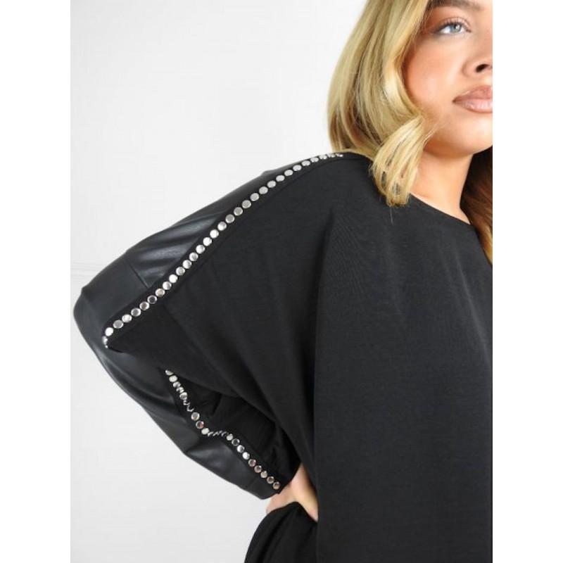 Casacca con borchie MAT -...